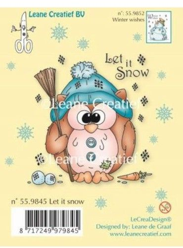 Leane Creatief clear stamp Let it snow 559845 (Locatie: K106)