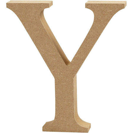 Letter Y, hoogte 13 cm, dikte 2 cm, MDF, 1stuk (Locatie: KB)