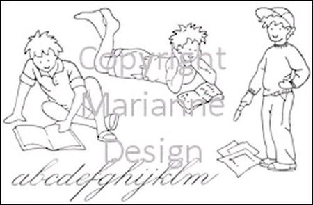 Marianne Design clear stamp Little sweethearts TC0817 (Locatie: I384 )