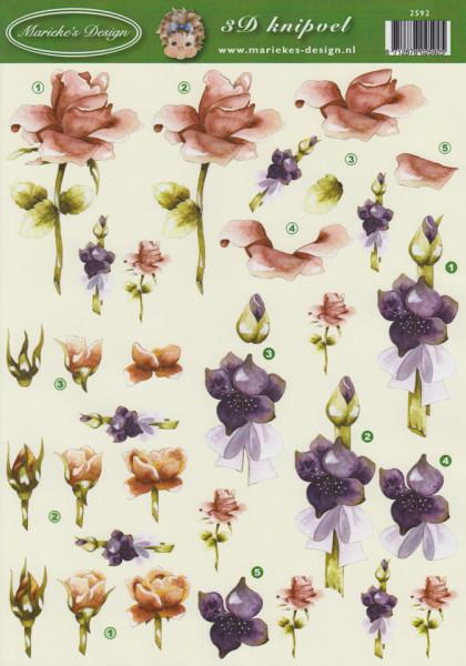 Marieke's Design knipvel bloemen 2592 (Locatie: 0105)