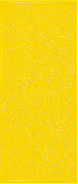 Mireille stickervel geel bloemen nr. 0651 (Locatie: A101)
