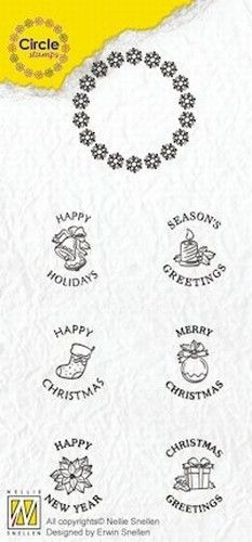 Nellie Circle Clear Stamps English texts - Christmas CCSK002 (Locatie: i610 )