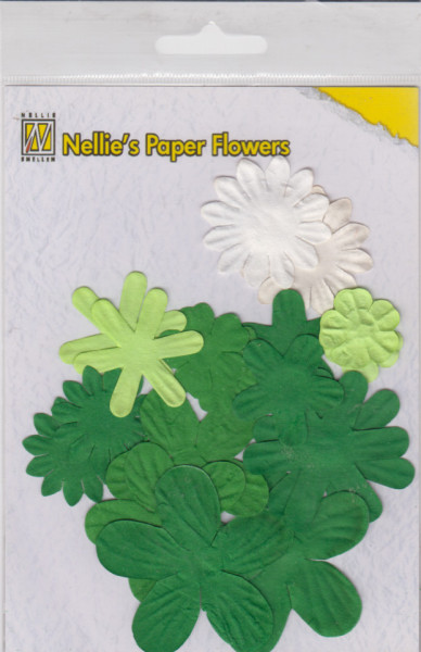 NS paper flowers christmas green (Locatie: k3)