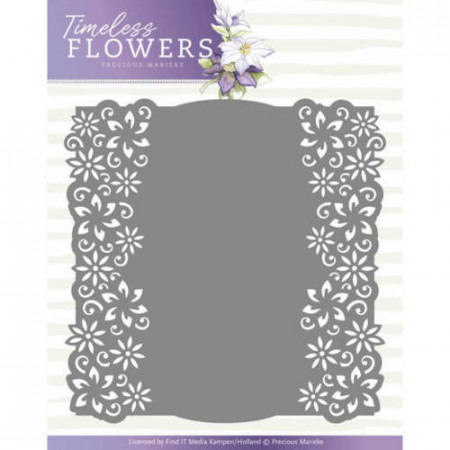 Precious Marieke snij- en embosmal Timeless Flowers - Clematis Frame PM10117 (Locatie: M054)