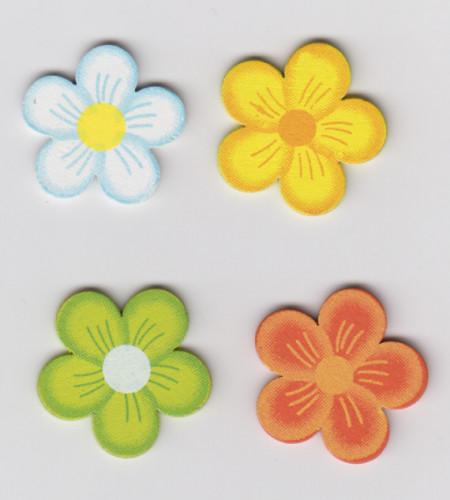 Rayher houten bloemen 16 stuks 88 532 49 (Locatie: K3)