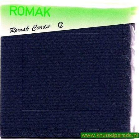 Romak vierkant buiten schulp d. blauw K4 318 25 (Locatie: HH103 )