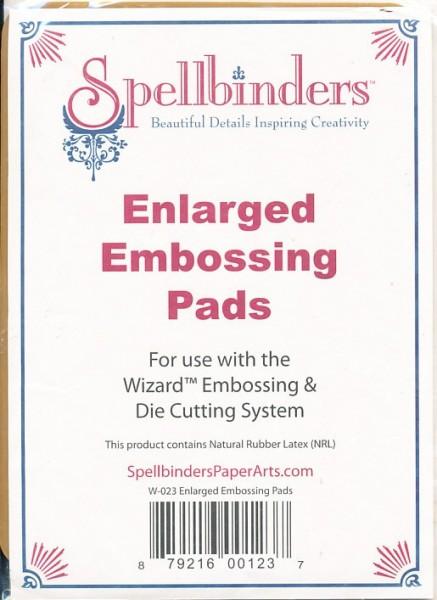 Spellbinders 2 Piece Enlarged Embossing Pads W-023