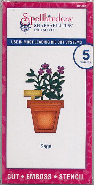 Spellbinders snij- en embosmallen Saliekruidenplant 5 stuks S2-087 (Locatie: D143)