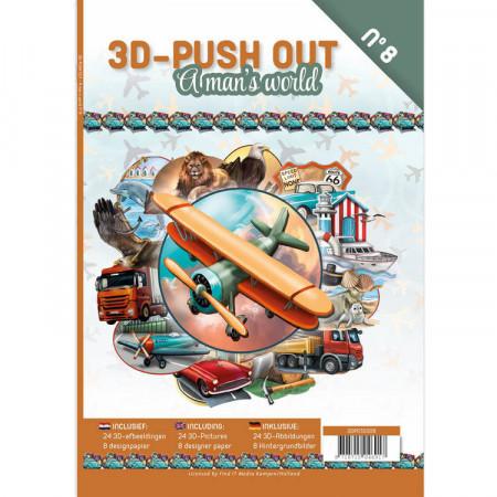 Stansboek A man's world, 24 afbeeldingen en 8 designpapier, 3DPO10008 (Loatie: 5833)