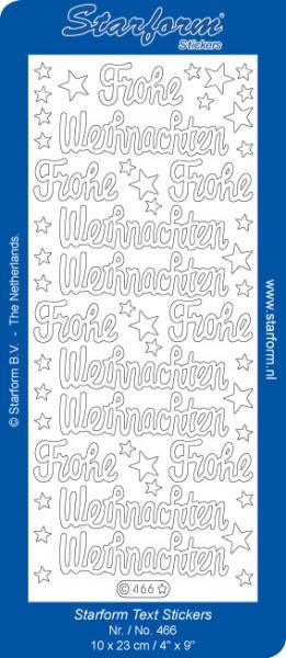 Starform glitter stickers Fröhe Weinachten goud 466 (Locatie: i324)