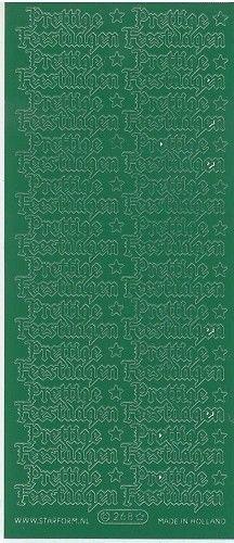 Starform sticker donker groen prettige feestdagen 268 (Locatie: A273 )