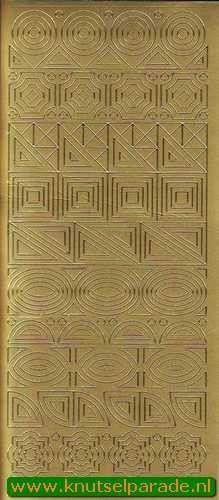 Starform sticker ornamenten goud 1148 (Locatie: K042)