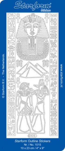 Starform sticker zilver Toetanchamon/Egypte 1015 (Locatie: H441)