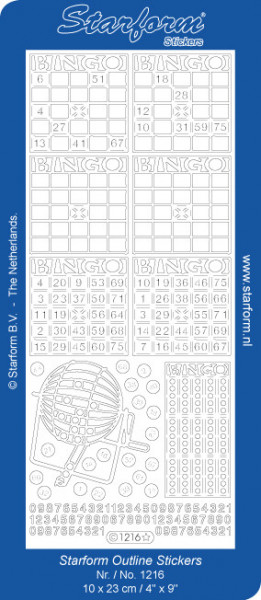 Starform stickervel bingo goud 1216 (Locatie: u213)