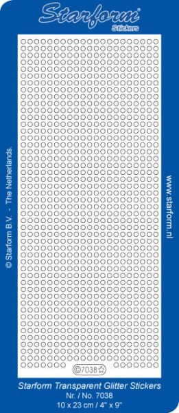 Starform stickervel glitter blauw 7038 (Locatie: A026)
