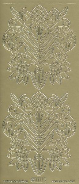 Starform stickervel goud bloem 1117 (Locatie: u076)