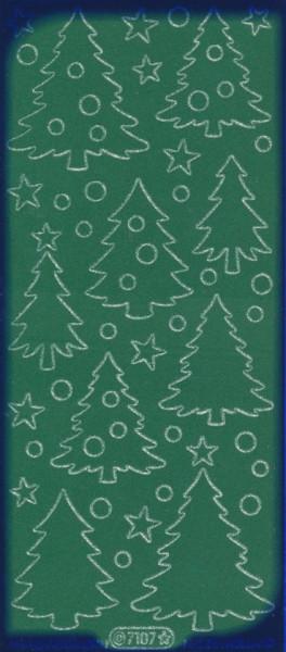 Starform stickervel kerstboom velvet groen 7107 (Locatie: u093)