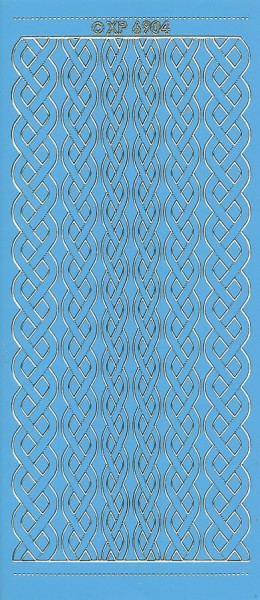Stickervel blauw/goud nr. XP 6904 (Locatie: K111 )