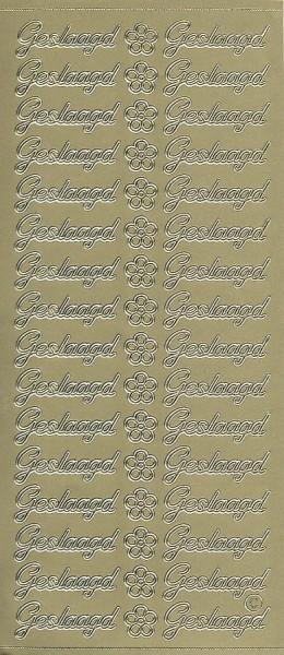 Stickervel geslaagd goud (Locatie: u238)