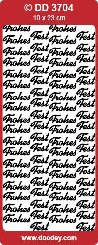 Stickervel goud Frohes Fest DD3704 (Locatie: C139)
