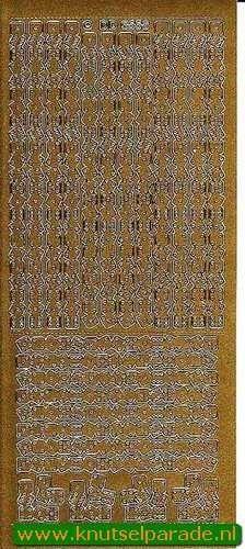 Stickervel goud randjes DD6558 (Locatie: G253)