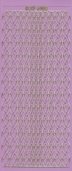 Stickervel lila/goud nr. XP 6903 (Locatie: K117)