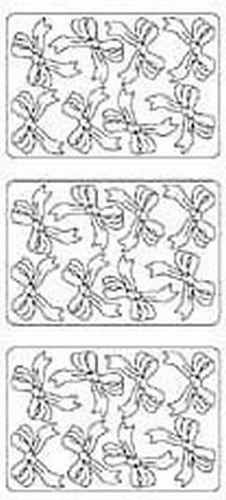 Stickervel strikken zilver 9605 (Locatie: H392 )