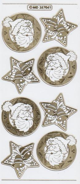 Stickervel transparant goud MD357041 (Locatie: C157)