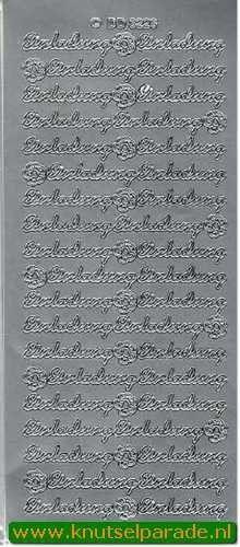 Stickervel zilver Einladung DD3226 (Locatie: B052)
