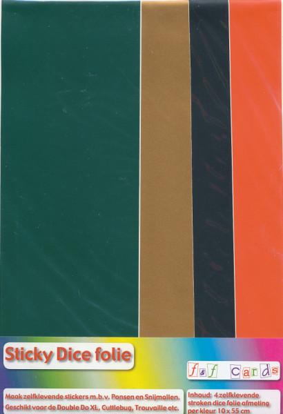 Sticky Dice folie 4 stroken van 10x55 cm set 005 (Locatie: 1329)