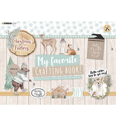 Studio Light A4 Crafting Book Christmas Feeling STANSBLOKSL98