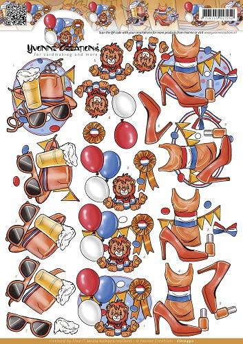 Yvonne Creations knipvel koningsdag CD10490 (Locatie: 0435)
