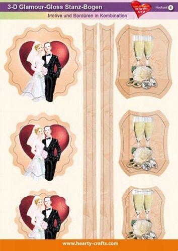 3 D glamour stansvel huwelijk 6 (Locatie: 615)