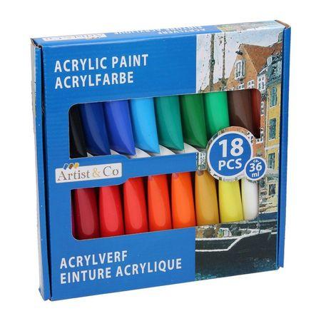 Acrylverf 18-Delig 52794