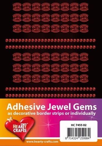 Adhesive Jewel Gems zelfklevende strips rood HC 7455 02 (Locatie: 1F )