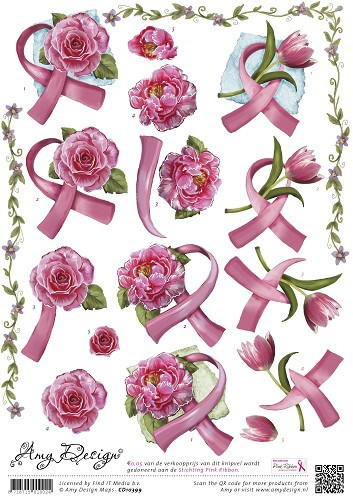 Amy Design knipvel Pink Ribbon CD10399 (Locatie: 2762)