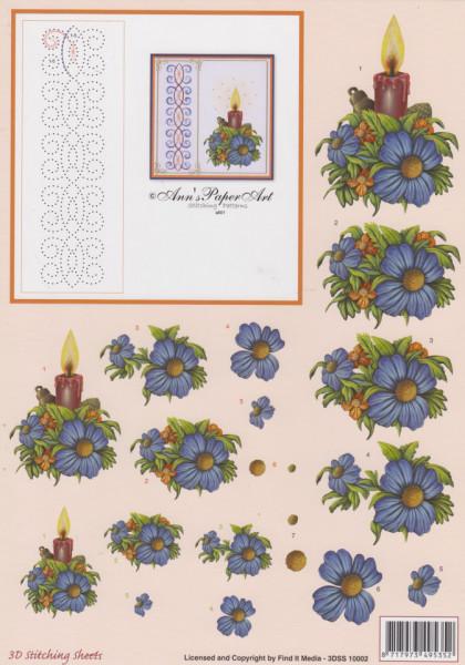 Ann's Paper Art knipvel kerstmis met borduurpatroon 3DSS 10002 (Locatie: 1453)