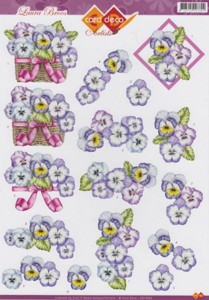 Card Deco knipvel bloemen CD10362 (Locatie: 0937)