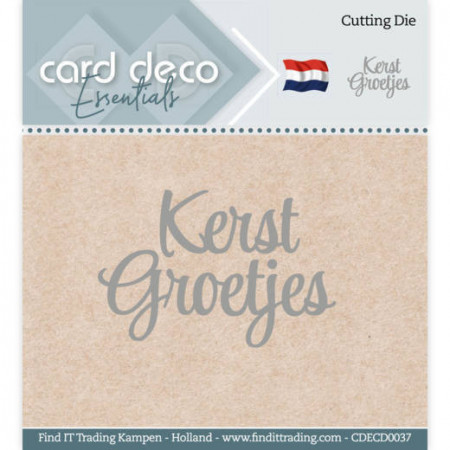 Card Deco snijmal Kerst Groetjes CDECD0037 (Locatie: k153)