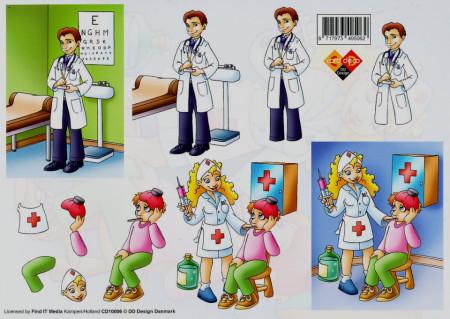 Carddeco knipvel dokter CD10006 (Locatie: 5908)