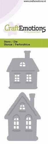 CraftEmotions snij- en embosmal Huisjes 115633/0133 (Locatie: K181)