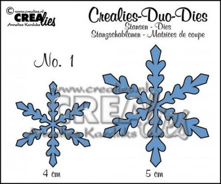 Crealies stansmal sneeuwvlokken CLDD01 (Locatie: K177)