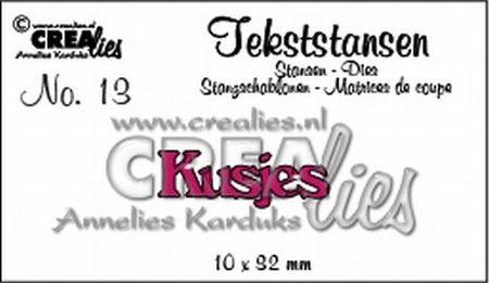 """Crealies tekststans """"Kusjes"""" CLTS13 (Locatie: C384)"""
