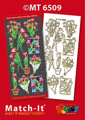 Doodey Match-It knipvel en sticker tulpen MT6509 (Locatie: 1726)