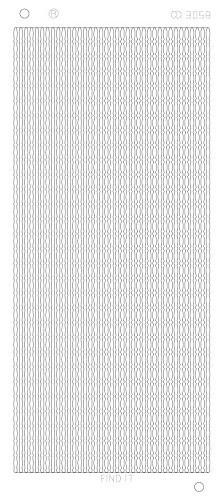 Find It stickervel glanzend zilver CD3058 (Locaite: c159)