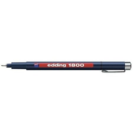 Fineliner Profipen Edding 1800-01 kleur blauw (Locatie: KB)