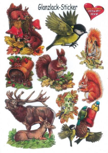 Glanssticker dieren, A4, 7 (Locatie: 0350)