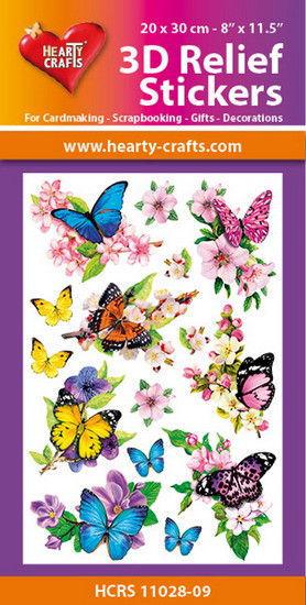 Hearty Crafts 3D Relief Stickers Butterflies HCRS11028-09 (Locatie: 6737)