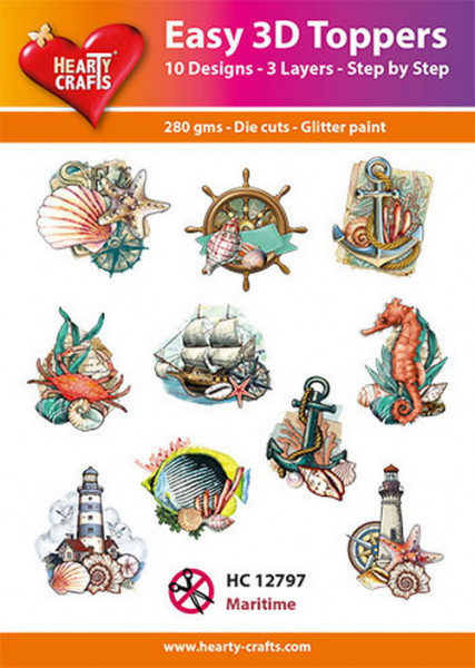 Hearty Crafts Easy 3D Toppers Maritime HC12797