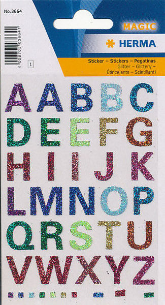 Herma stickers magic letters glitter 1 vel 3664 (Locatie: U181)